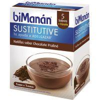 Bimanan Sustitutive Natillas sabor Chocolate Praliné 5+1 sobres 260gr