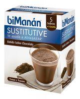 Bimanan Sustitutive Batido sabor Chocolate 5+1 sobres 300gr