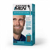 JUST FOR MEN Colorante en Gel Bigote Y Barba CASTAÑO CLARO (M-25)