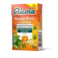 RICOLA Caramelos Sin Azúcar Naranja-Menta 50g