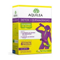 AQUILEA Detox + Quemagrasas 10 Sticks bebibles Sabor Piña