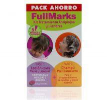 Fullmarks Champú Post-Tratamiento 150 Ml + Loción Pediculicida Kit Antipiojos y Liendres 100 Ml