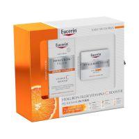 EUCERIN Pack Hyaluron-Filler Vit C Booster 8ml + Crema Día SPF30 50ML