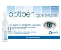 Optiben Ojos Secos Gotas - Sequedad Ocular (Unidosis 0.25 Ml 20 Amp)