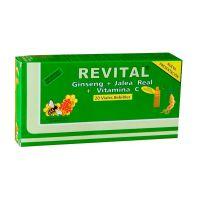 Revital Ginseng + Jalea Real + Vitamina C - (20Amp)