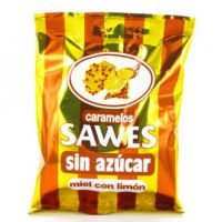 Caramelos Sawes 1 Bolsa Miel Limón Sin Azúcar 50G