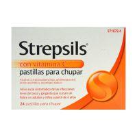 Strepsils Con Vitamina C 24 Pastillas Para Chupa