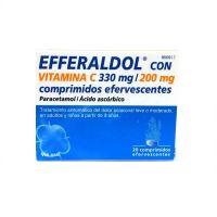 Efferaldol Con Vitamina C 330Mg/200Mg, 20 Comprimidos Efervescentes