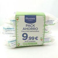 Mustela Toallitas Pack Trio 70 Unidades